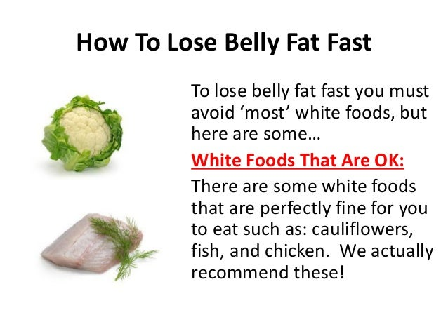 How to lose belly fat fast with diet