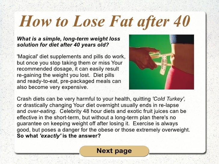 How do I lose fat after 40 years old? 5 common sense tips ...