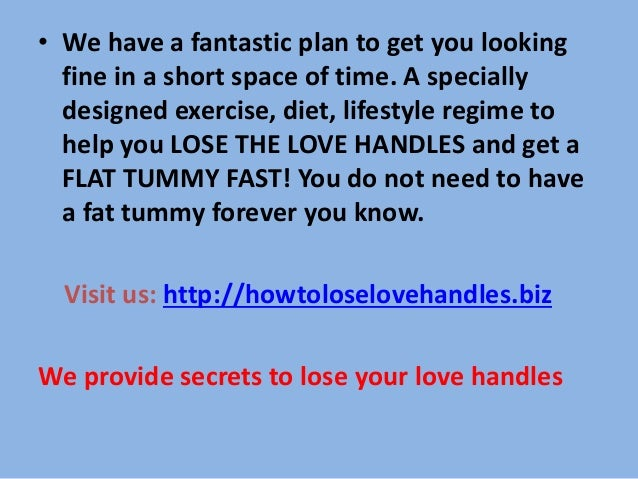 how to lose your love handles quickly