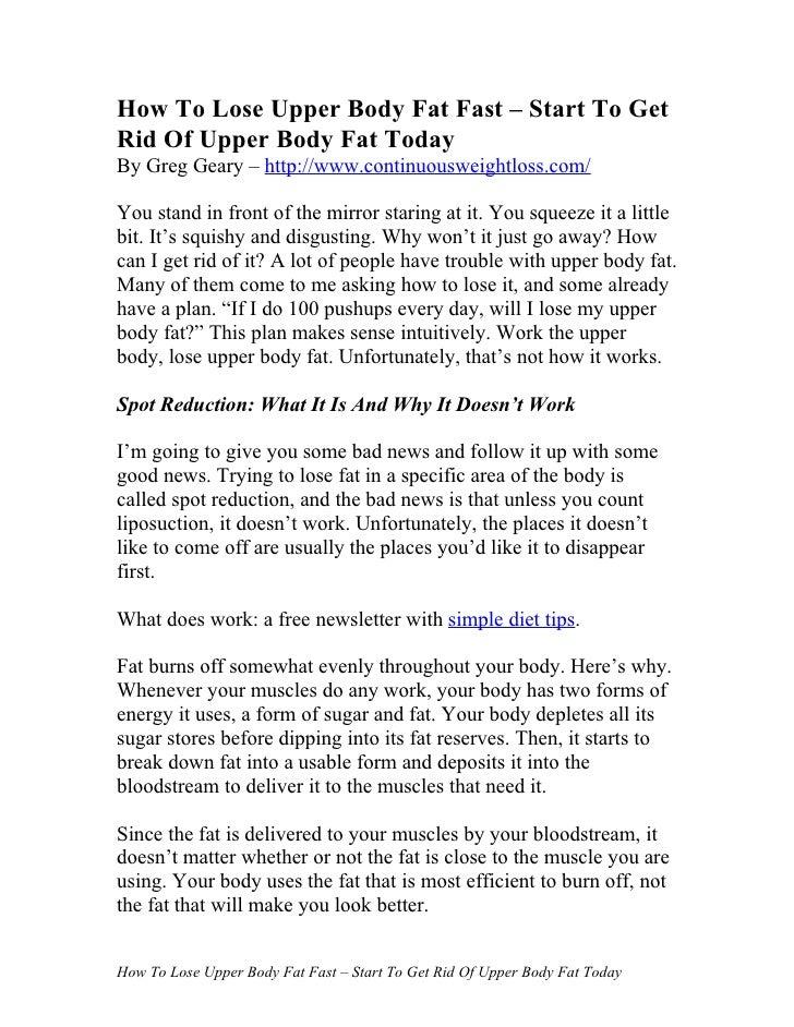 Burn Stored Body Fat