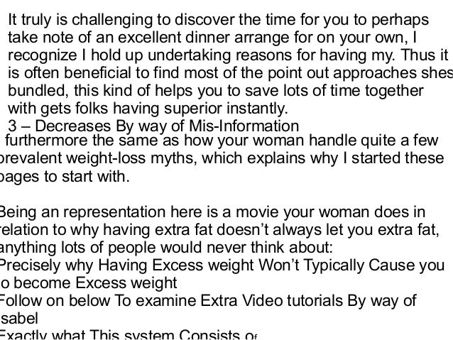 Weight loss information on the internet essay