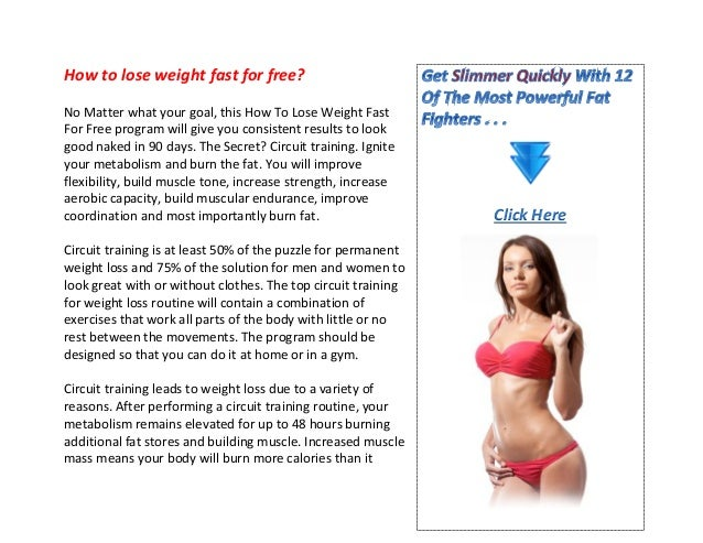 How to lose weight fast for free