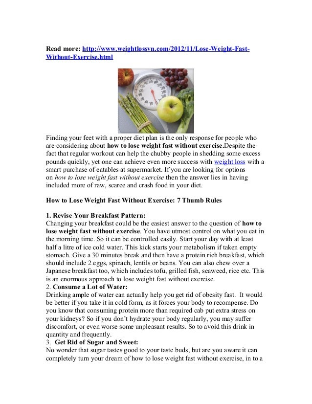 Size 0 Diet Exercise Plan: How To Lose Weight Fast Without Exercise