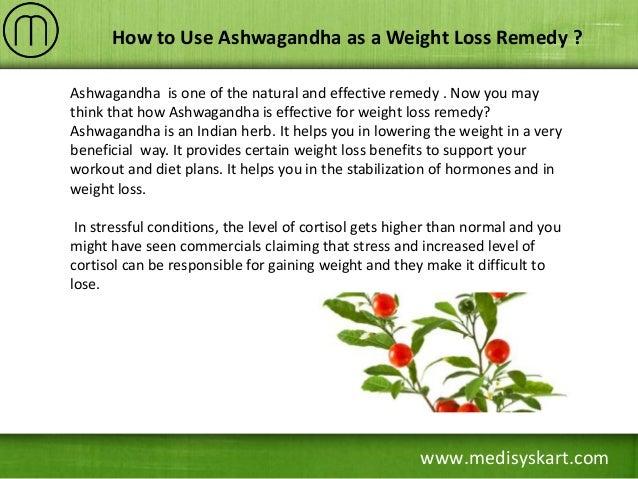 How to Lose Weight Using Ashwagandha