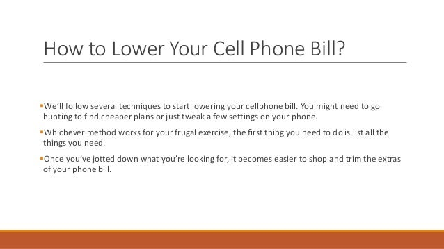 How to lower cell phone bill in 2021 Slide 3