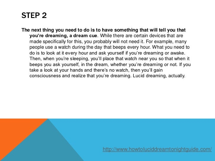 how to get lucid dream tonight
