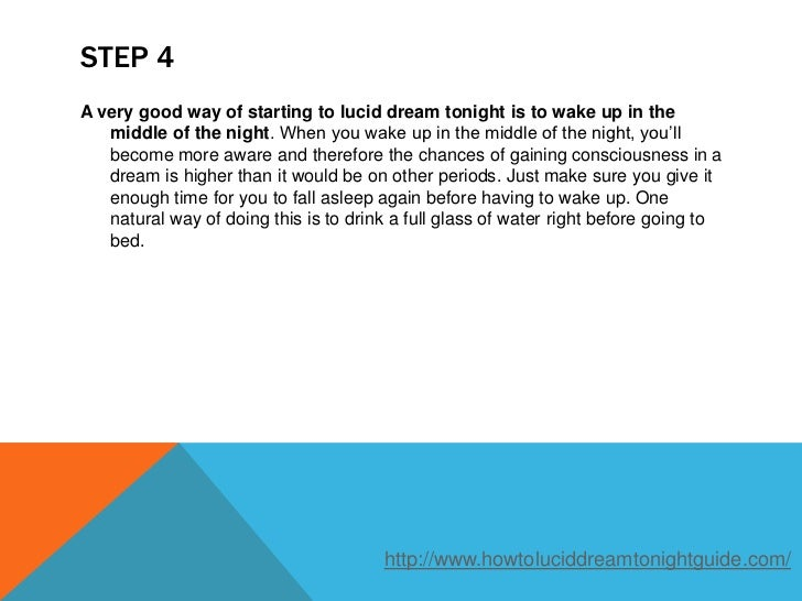 How To Have A Proper Dream Tonight