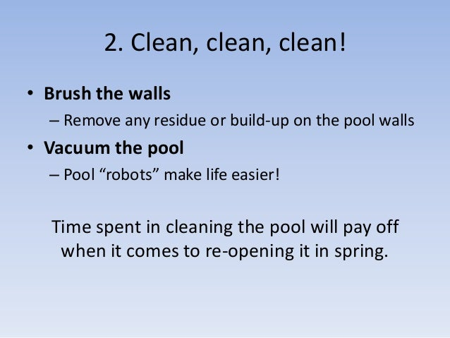 How To Maintain A Swimming Pool Over Winter