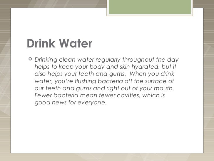Image result for drink water for teeth