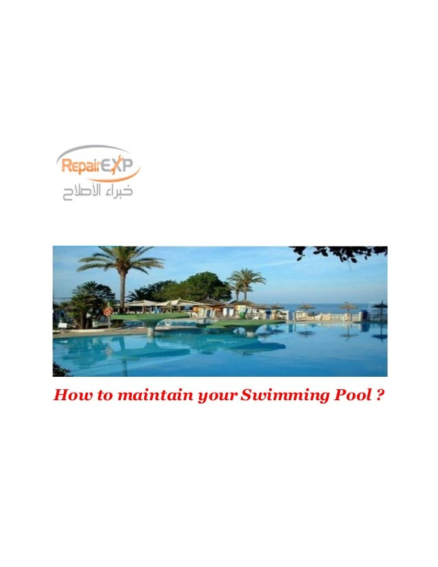 How to Maintain Swimming Pool