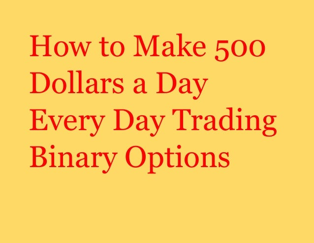 Day trading binary options
