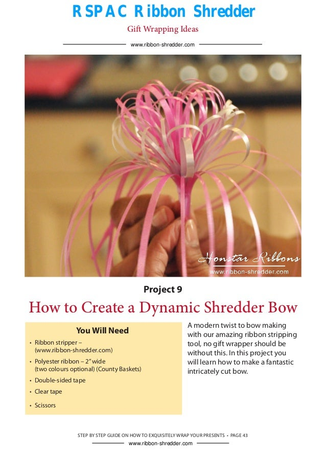 how to makea a shredder ribbon bow with rspac double teeth ribbon sh