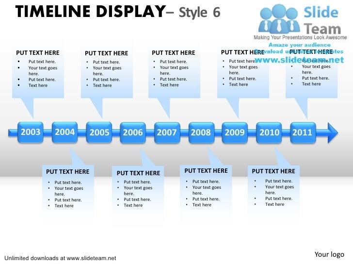 powerpoint smartart timeline - Template