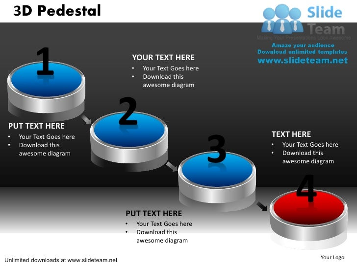 How to make achievement 3 d pedestal powerpoint slides and for How to create power point template