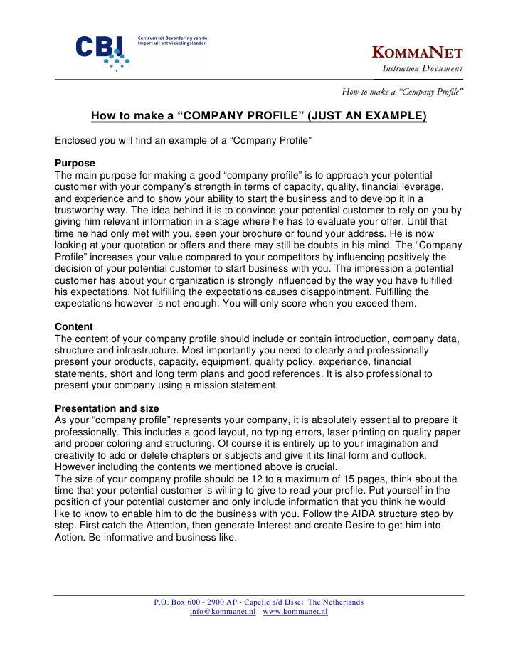 How to make a company profile for How to make a company profile template