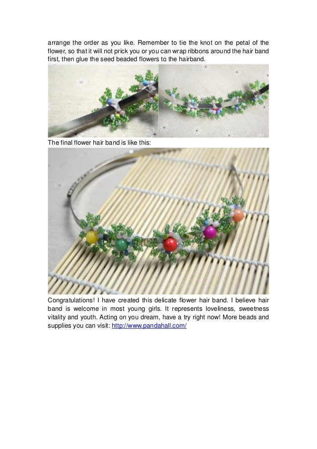 flower hair band how to make