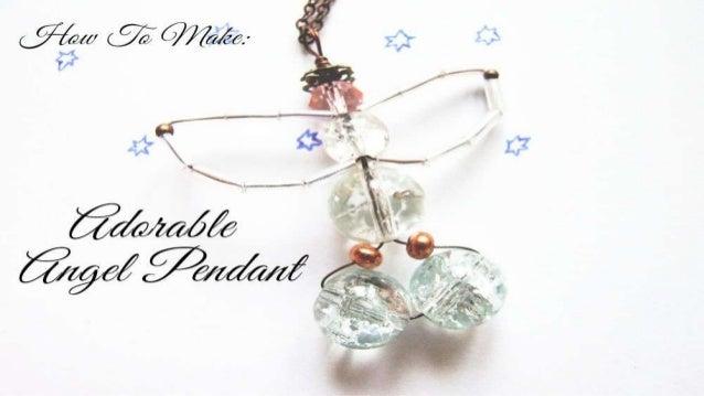 How To Make: Adorable Angel Pendant