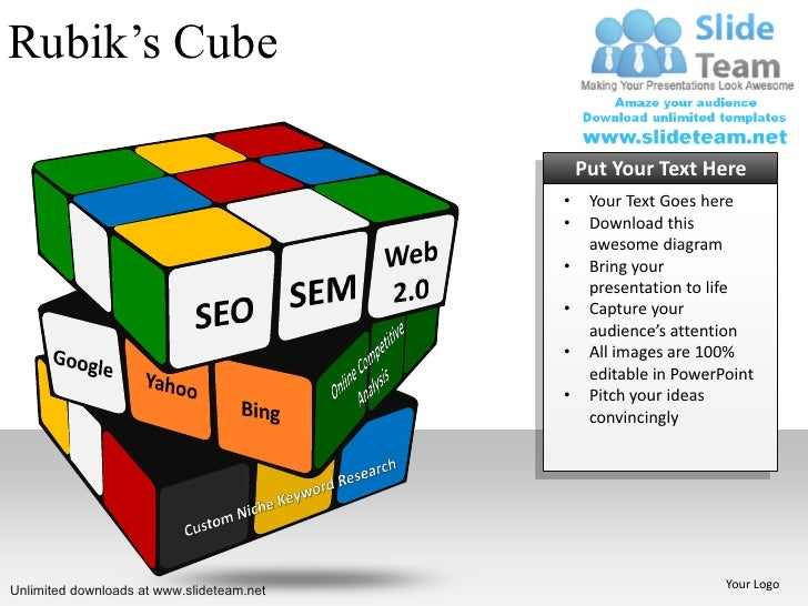 Rubik's Cube                                               Put Your Text Here                                           • ...
