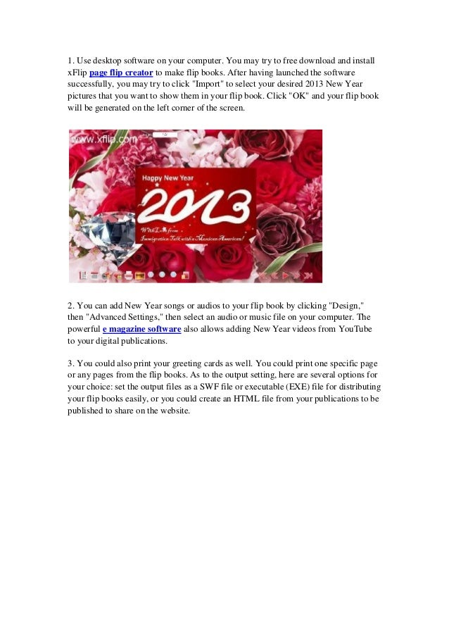 How to make a flip book for 2013 new year