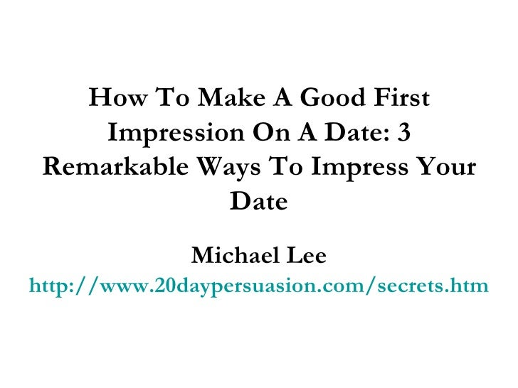How to make good dating