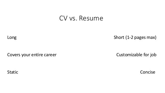 how to make a good resume 2 cv vs