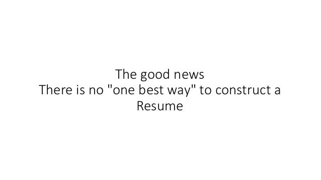 Here How It Looked Like; 9.  How To Construct A Resume