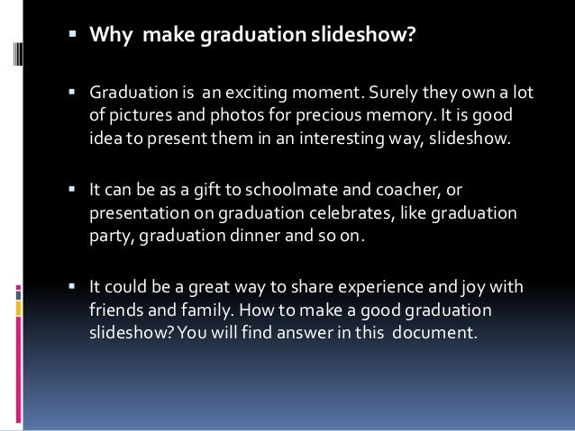 how to make a slideshow presentationted