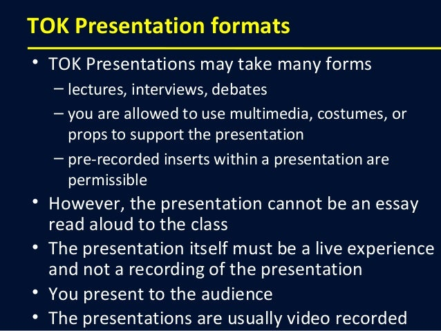 how to make a great theory of knowledge presentation planning tok presentation 13
