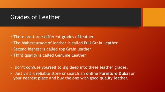 Grades Of Leather ...