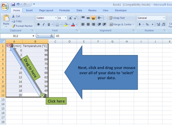 how to make a line graph on excel