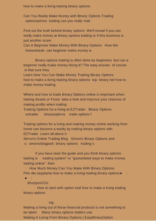 Binary options trading for a living flipkart
