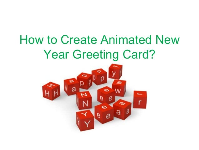 Tutorial about How to Design Handmade New Year Greeting Card