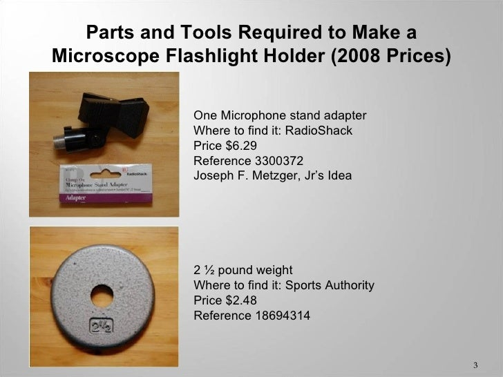 How to Make an LED Microcope Light from a Flashlight Slide 3