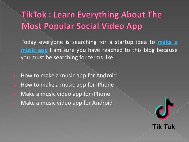 How To Make A Music App Like Musical ly/TIKTOK