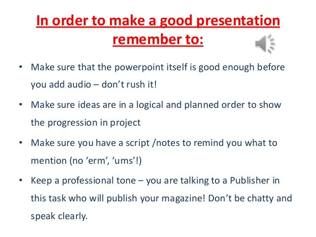 how to make a good powerpoint