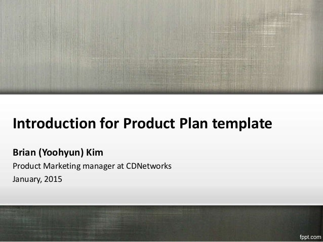 Introduction For Product Plan Template