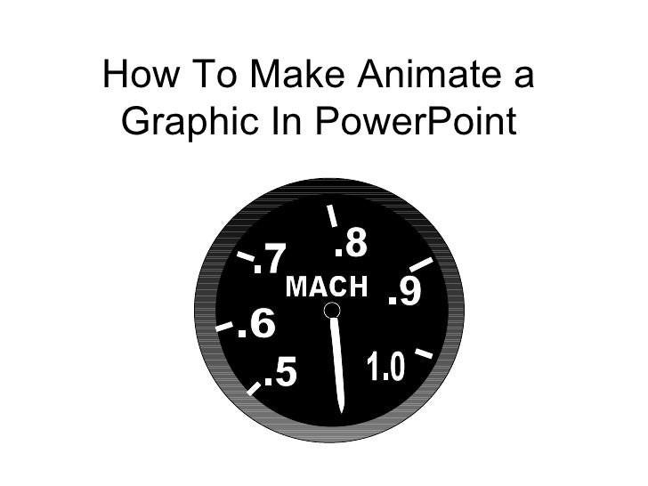 How To Make Animate a Graphic In PowerPoint .5 .6 .7 .8 .9 1.0 MACH