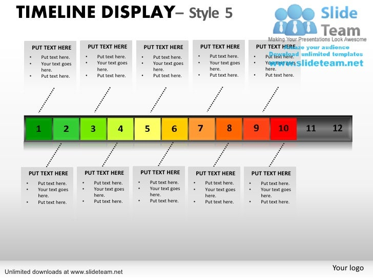 How to make annual planning ppt power point slides and ppt diagram te timeline display style 5 put text here put toneelgroepblik Image collections