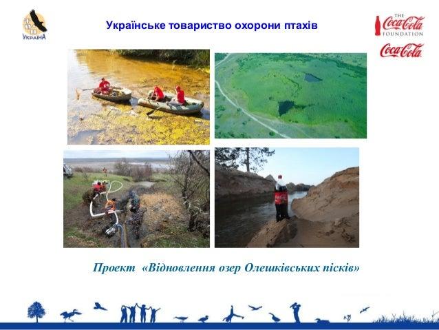 Українське товариство охорони птахів Проект «Відновлення озер Олешківських пісків»