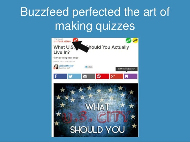 How to make a personality quiz like buzzfeed