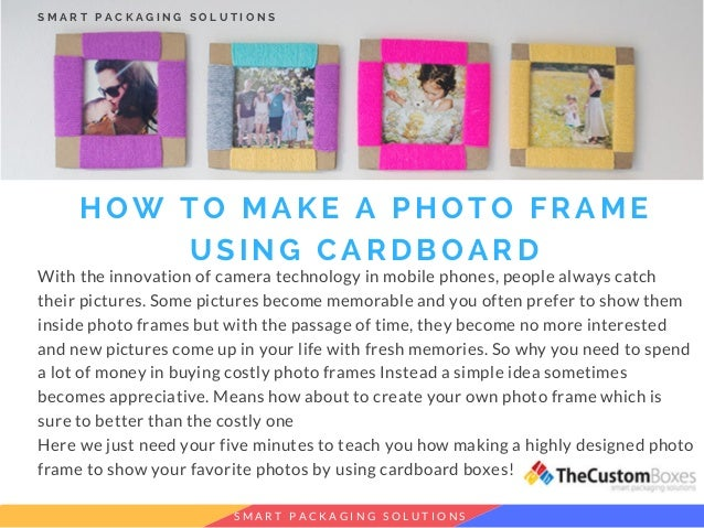 How To Make A Photo Frame Using Cardboard