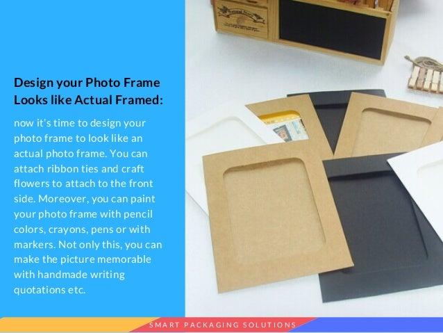 How To Make A Photo Frame Using Cardboard
