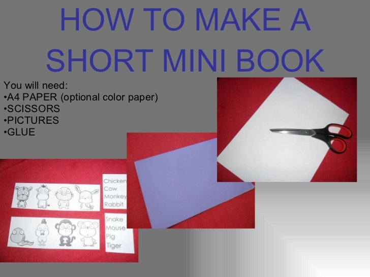 How To Make A Book : How to make a short mini book