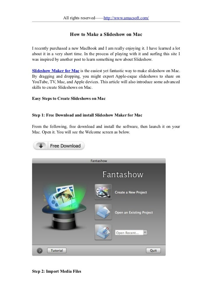 How to make a slideshow on mac