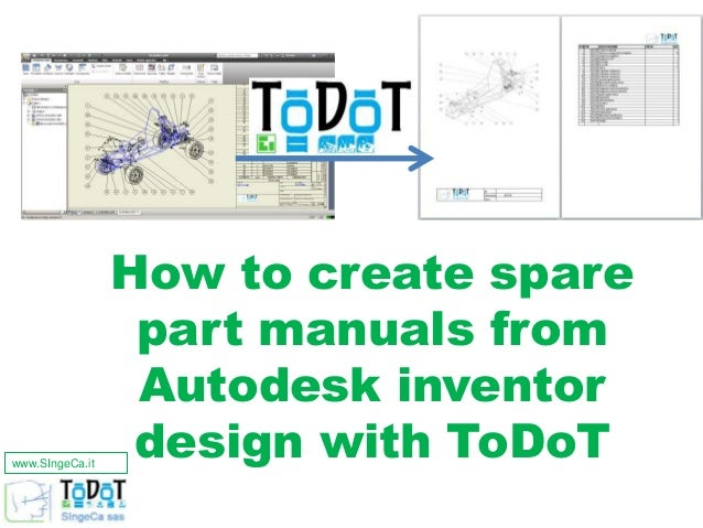 how to automatically make a spare parts manual with autodesk inventor rh slideshare net autodesk inventor user manual autodesk inventor manual pdf download