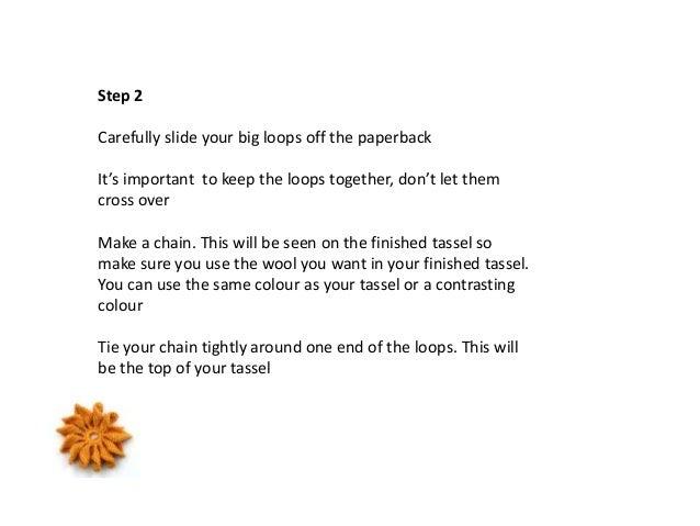 How to make a tassel Slide 3