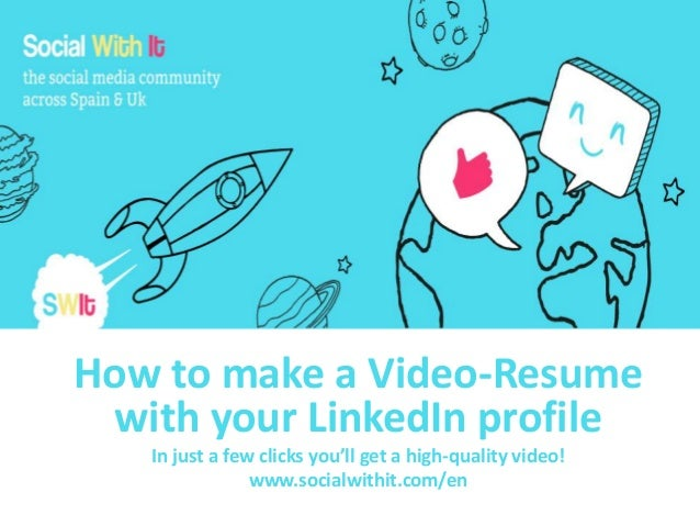 How to make a Video-Resume with your LinkedIn profile In just a few clicks you'll get a high-quality video! www.socialwith...