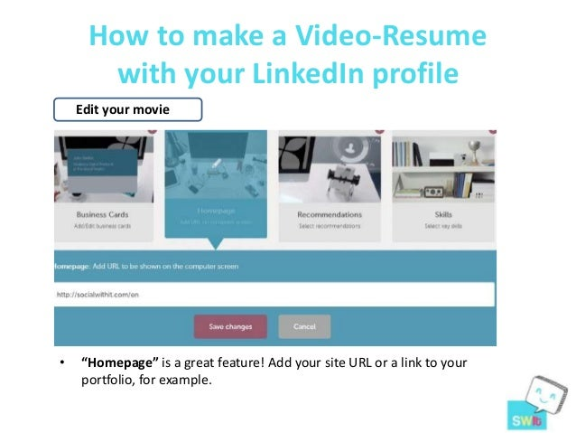 How To Make A Video Resume With Your Linked In Profile Resu Me Tool