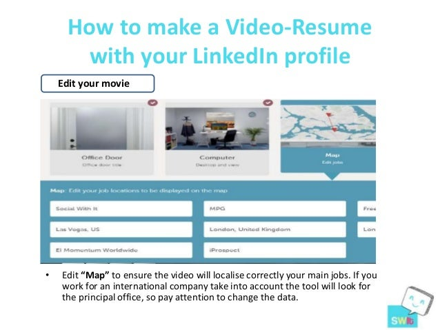 how to make a video resume with your linked in profile resu me tool - Steps In Making Resume