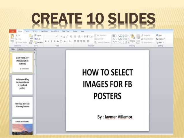how to make a video on powerpoint 2010